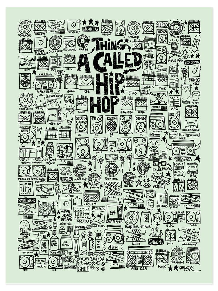 A Thing Called Hip Hop Print // Hollis Park