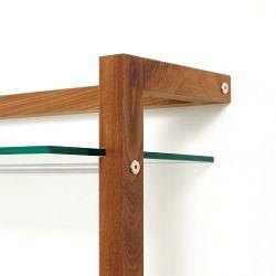 Quadra Holz Schallplattenregal Nussbaum 6 Glasb 246 Den