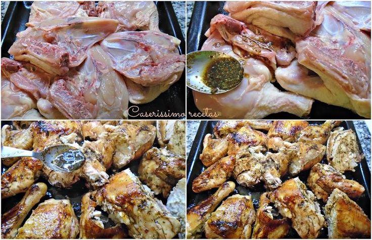 Pollo al horno con adobo