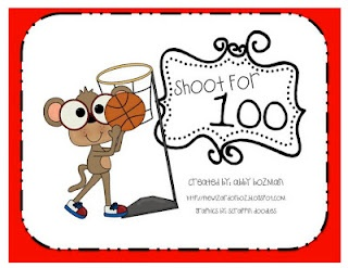 Shooting for 100! Super fun addition game FREE from Abby at The Wizard of Boz.