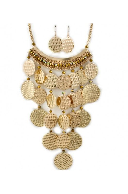 """Hawaiian Suns"" Necklace Earring Set-  Limited Item In Stock! Available at 50% Discount. Shop Now!"