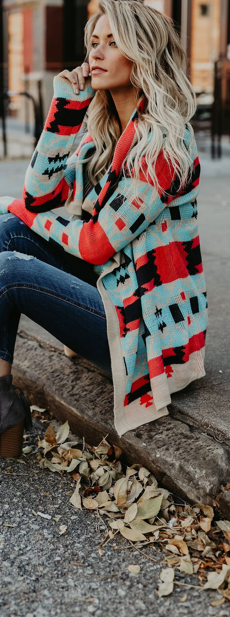 Fall Fashion 2017 with Bohemian flare! Love this colorful cardigan | Boho fashion outfits | Bohemian inspired clothes