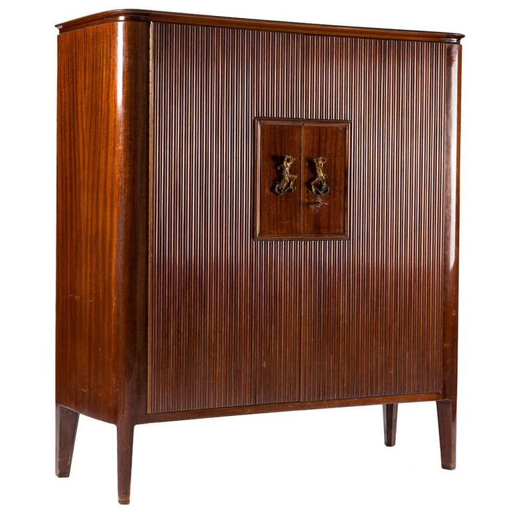 Rare Cabinet by Borsani with Lucio Fontana | From a unique collection of antique and modern cabinets at http://www.1stdibs.com/furniture/storage-case-pieces/cabinets/