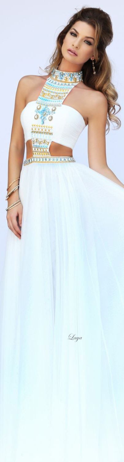 White toga inspired dress.