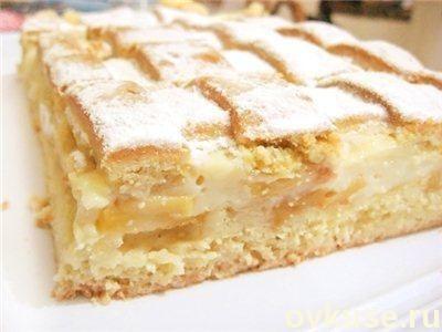 Яблочный пирог пышный