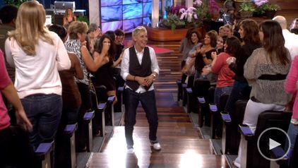 Be able to dance next to Ellen in the audiance !