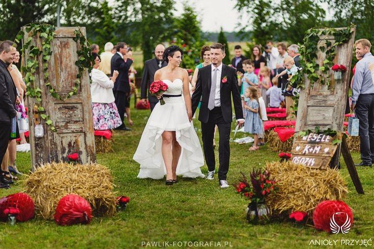 1. Rock Wedding,Outdoor ceremony rustic decor,Bundles,Doors decoration / Rockowe wesele,Dekoracja ceremonii w plenerze,Anioły Przyjęć