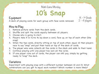 Teaching Maths with Meaning Math Game Monday Week 3