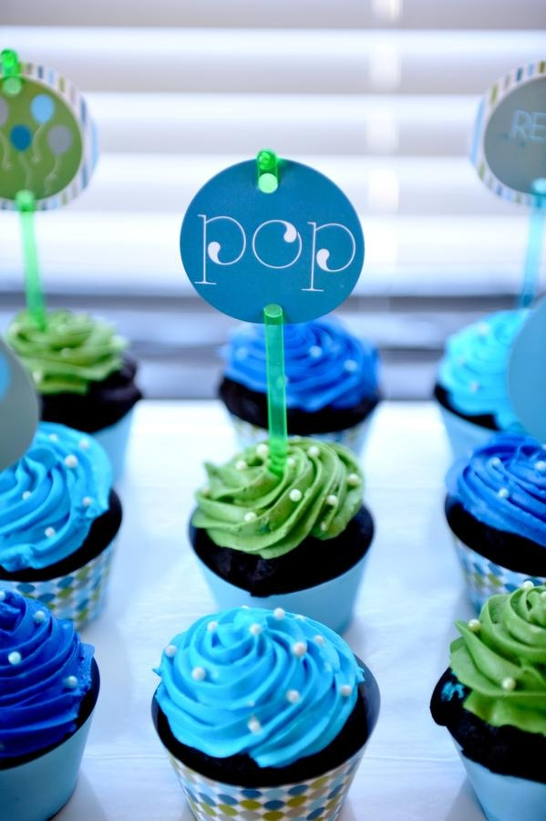 Blue And Green Cupcakes Cute Cupcake Ideas Baby Shower Cupcakes