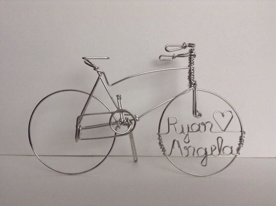 LOVE CYCLES Personalized Racing Bikes Wedding by HeatherBoydWire
