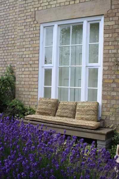Rush seat cushions £120.00 each Bench cushion £252.00