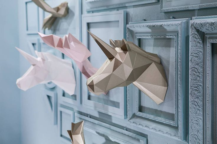 Beautiful Polygonal Paper Animals Installation