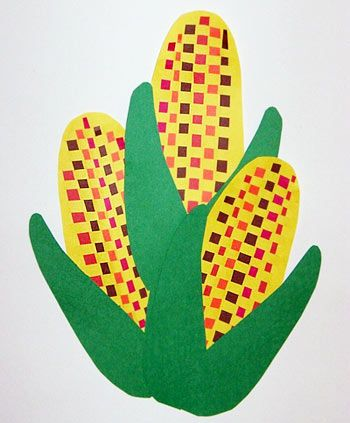 Woven Indian Corn: Young ones will create a festive Indian corn decoration for the Thanksgiving season.