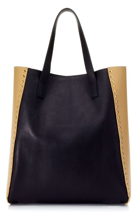 Great color combo -- Marni Coal & Peanuts Shopper Tote CC: @Moda