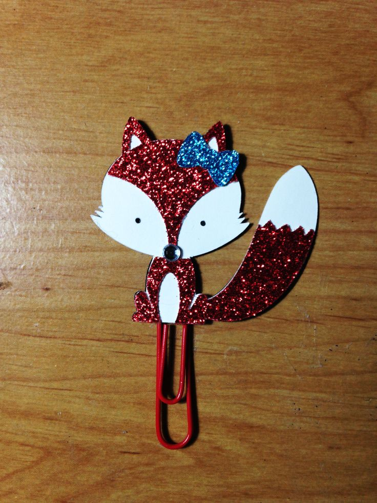 Red Fox Planner Clip by TheCleverDesign on Etsy