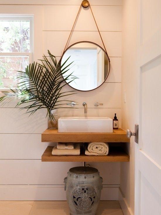 Waschtisch im Bad extravagabt look geben spiegel