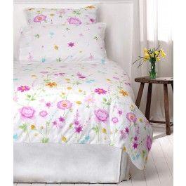 Lenjerie de pat din bumbac Cottonissima model 1305-03 roz 2 persoane