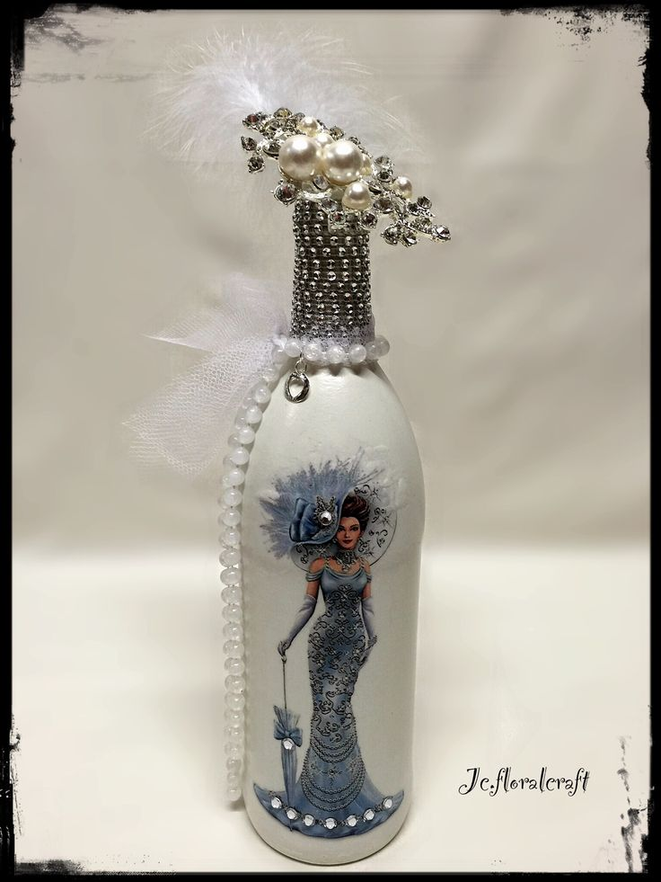 Decoupage bottle                                                                                                                                                                                 More