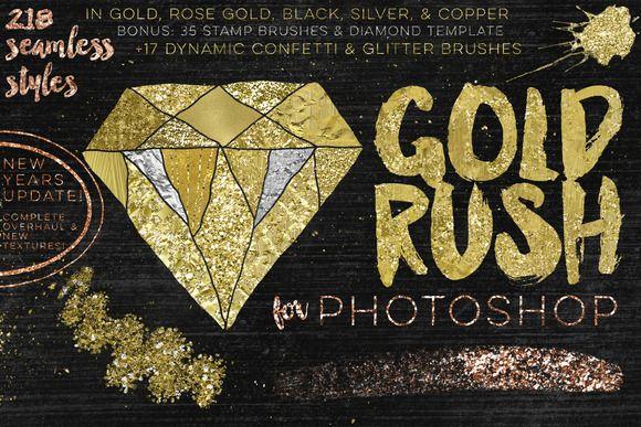 Gold Rush For Photoshop by Studio Denmark on @creativemarket