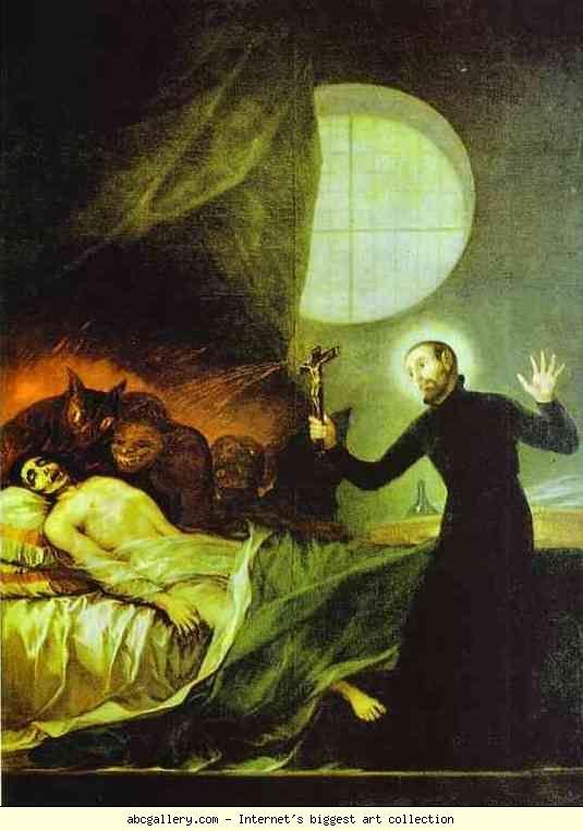 Francisco de Goya. St. Francis Borgia Exorsizing