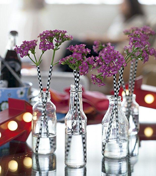 Eles saem dos copos para ajudar na decoração (Foto: Cacá Bratke/Editora Globo)
