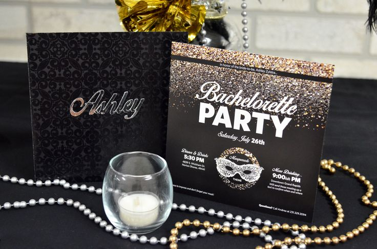 Masquerade Bachelorette Party/Hen Night Invitation [Andrea Arch]