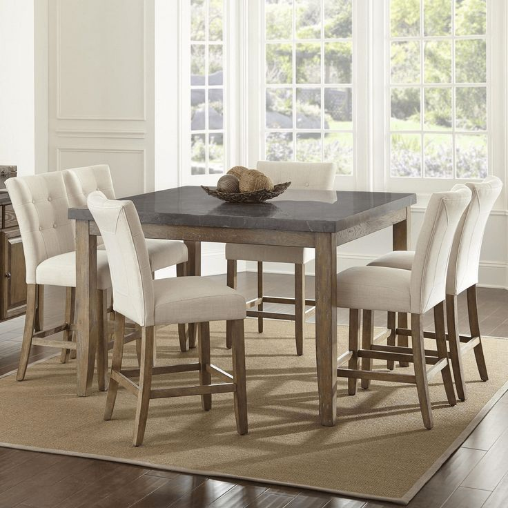 Dining bluestone table and chairs set #diningtableideas