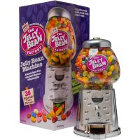 No wonder everyone loves our Jelly Bean Machine! It's chock-full of our delicious gourmet jelly beans. And the party never has to end – it's refillable too. It's a great gift – for friends, for family, and for yourself! Easily dispenses beans Die cast metal with a platinum colour and glass globe Great gift idea