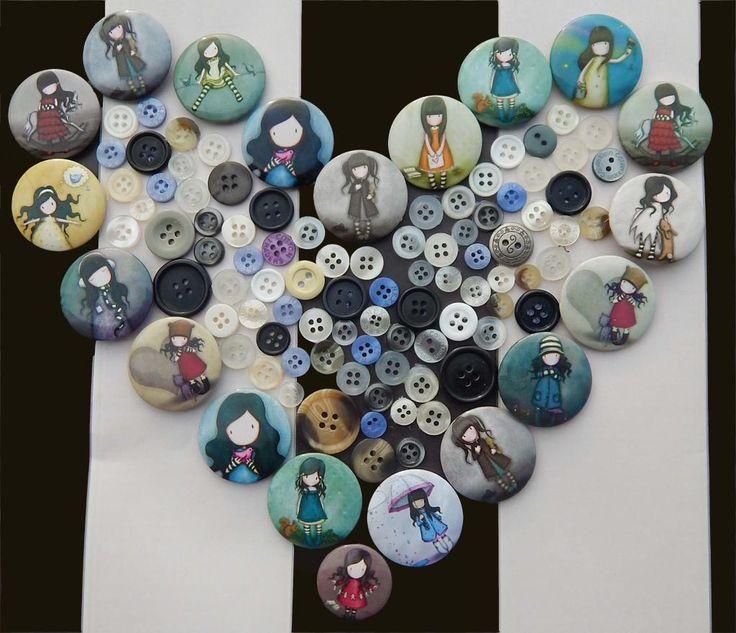 Gorjuss Button Badges! Shop the collection here: http://www.santoro-london.com/shop/collections/gorjuss/