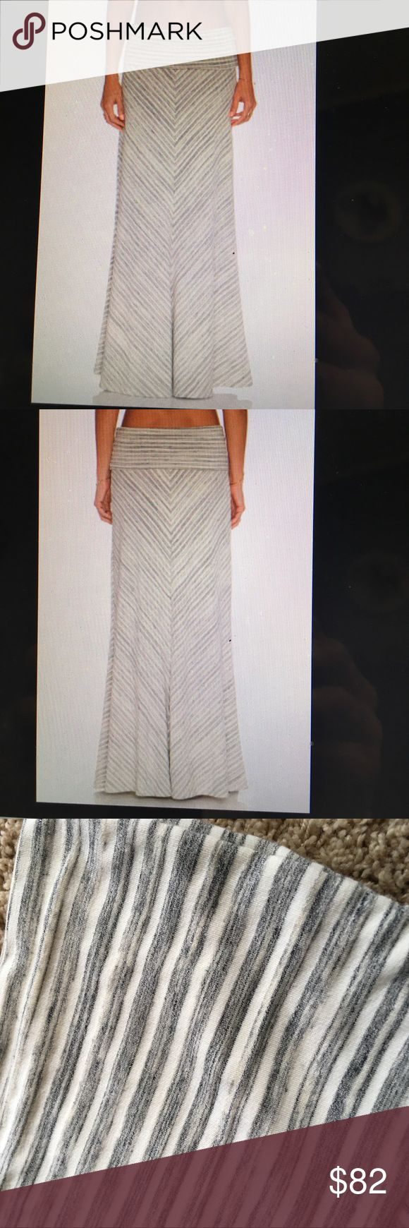 NWT Saint Grace Chevron Maxi Skirt, XS Brand-new. Never worn. Tags attached. Unlined. Buttery soft fabric. Stretch fit. Folder waist so skirt can be adjusted to fit your body. Skirt measures approximately 45 inches in length. Saint Grace Skirts Maxi
