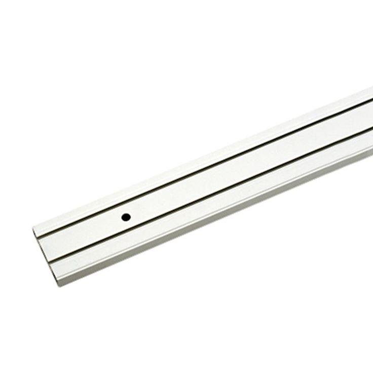 Vorhangschiene 2-spurig aus weißem Kunststoff   – Products