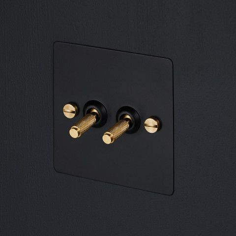 Buster & Punch light switches - Made from solid Marine Grade Steel, this range of switches and dimmers features diamond-cut knurling on the controls themselves for a fantastic, hefty feel, as well as signature oversized screws that only help add to the industrial feel. Available in brass, steel, bronze, black, white, and several combinations thereof. $50
