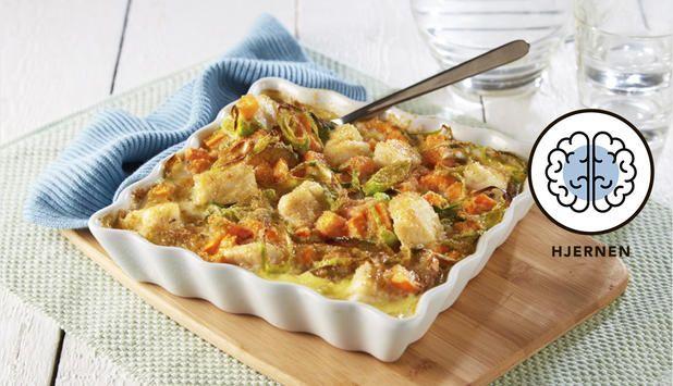 Torsk- og potetgrateng med sennep