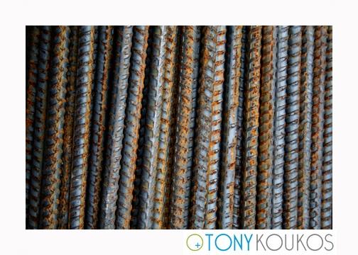 rods, rebar, steel, rust, pile