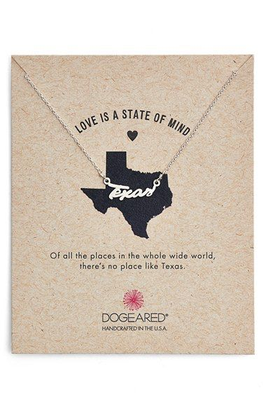 Dogeared Dogeared 'Love Is a State of Mind - Texas' Necklace available at #Nordstrom