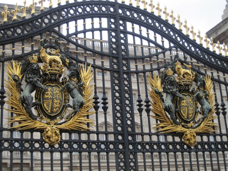 Royal gates at Buckinham Palace. Spectular! We were at The Palace on Easter.  Lots of great stories.