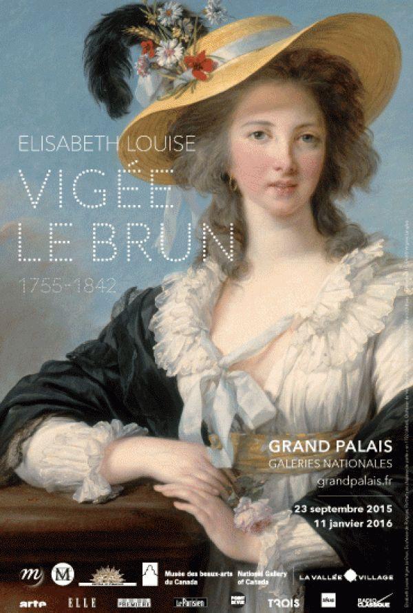 Élisabeth Vigée Le Brun (1755-1842) au Grand Palais : Affiche.