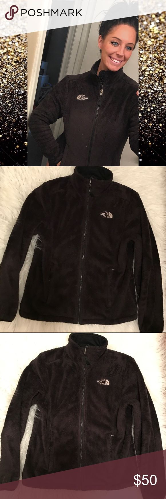 Women's North Face Small Slight piling on front as shown in picture. Still super super soft and comfy. Black. The North Face Jackets & Coats