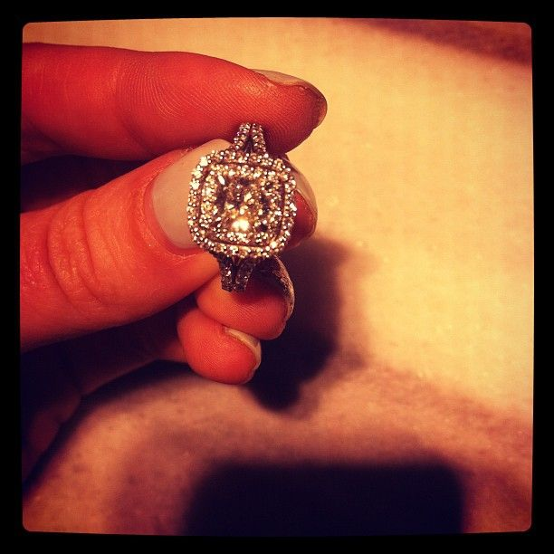 Who doesn't love a beautiful cushion cut and halo engagement ring? LITERALLY MY DREAM RING