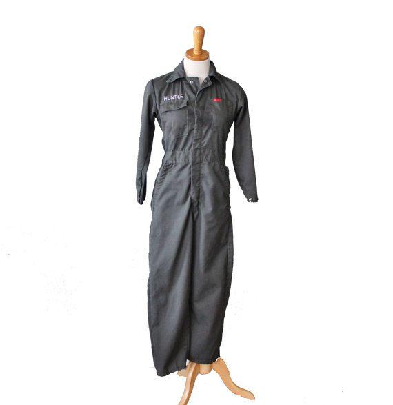 Vintage 70s Mechanic Coverall Jumpsuit - Short Petite Fit