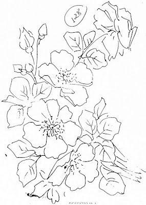 Pintura em Tecido Passo a Passo: Pintura em tecido rosas silvestres