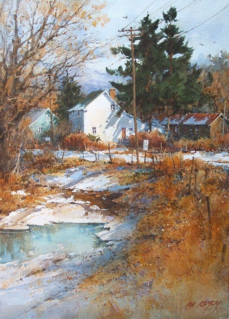Great watercolors! Rural, urban, coastal... Ian Ramsey