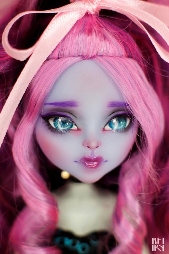 Monster High Ooak Kiyomi Haunterly Repaint Custom Doll Head Etsy