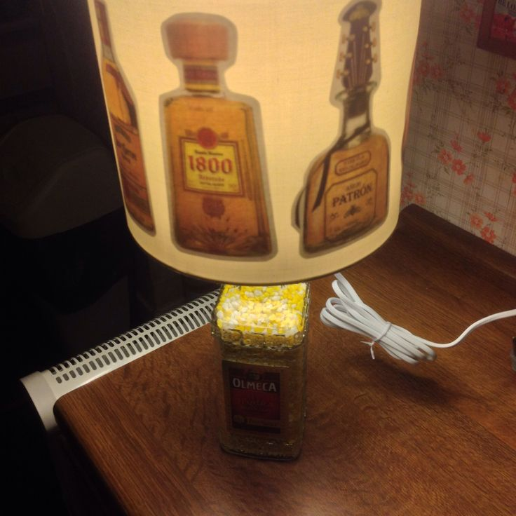 Custom and handmade tequila bottles lampshade for my tequila lamp (view 1)