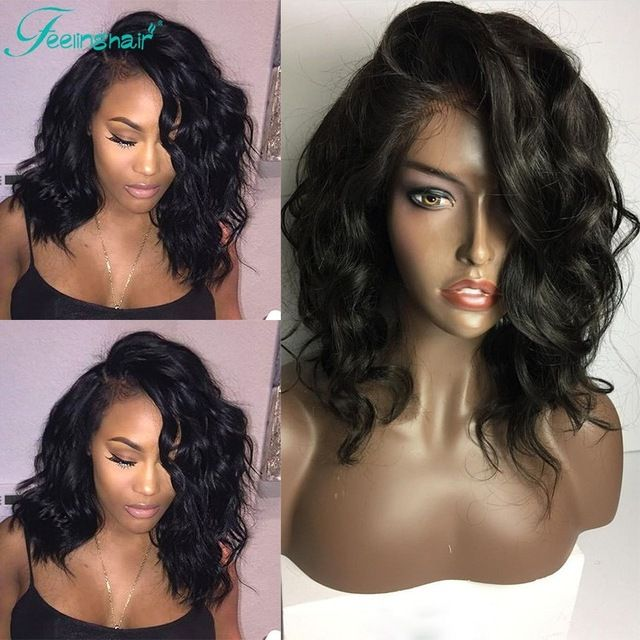 8A Wet And Wavy Full Lace Wigs Brazilian Glueless Full Lace Human Hair Wigs For Black Women Wavy Lace Front Wigs With Baby Hair