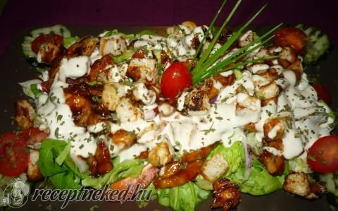 Cézár saláta recept fotóval