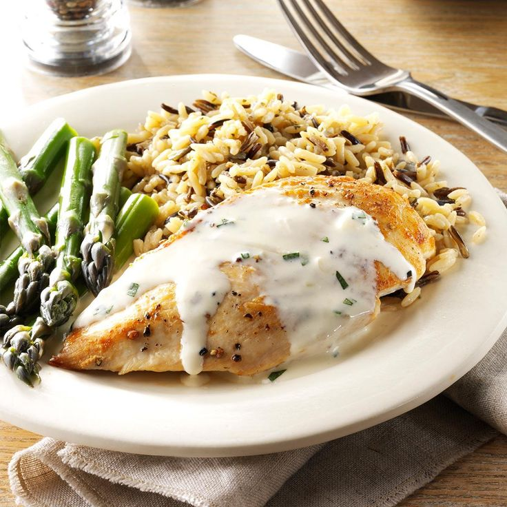 Chicken with Tarragon Sauce Recipe -This is comfort food at its finest. I cook it at least once a week and usually serve with homemade mashed potatoes and sautéed fresh green beans. —Cher Schwartz, Ellisville, Missouri