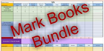 Make record keeping easy with this bundle of smart Excel spreadsheets. 3 mark books cover all subjects as well as general information such as anecdotal notes about students and notes sent home. The bundle includes a Maths mark book that matches the Australian Curriculum, a general mark book that can record data for up to 10 subjects, and an all purpose notebook for data other than A-E grades.Assistive Maths Mark Book: Easily enter data for up to 30 students, enter specific assessments for…
