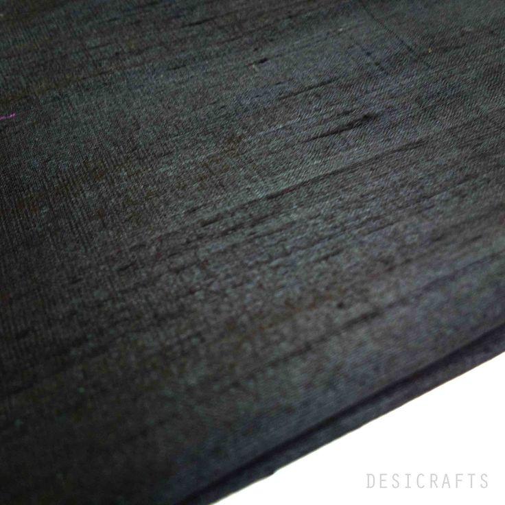 Black Dupioni Silk - Raw Silk Fabric