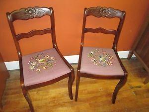 Pair Of Tell City Mahogany Duncan Phyfe Chairs
